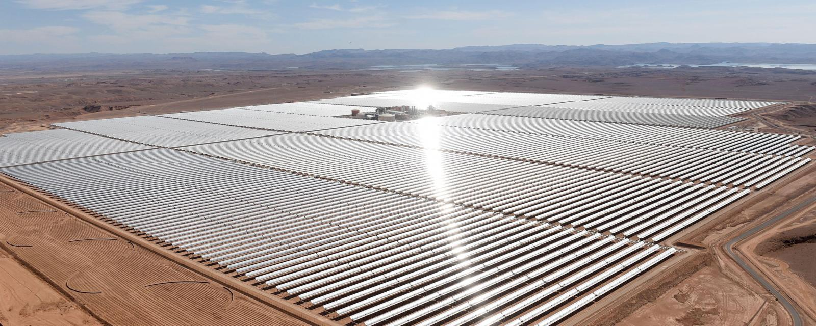 The colossal African solar farm that has been built in Morocco.