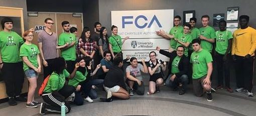 CleanTech academy students at FCA