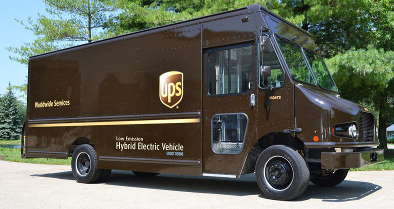 An example of UPS's hybrid delivery vehicles!