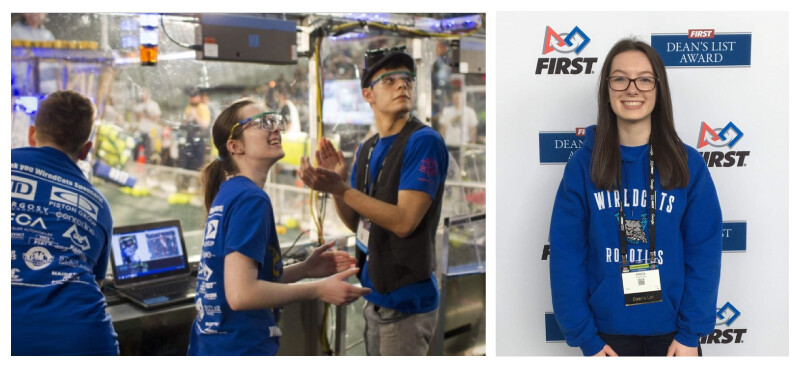 Erica Rossi competes with her FIRST Robotics team
